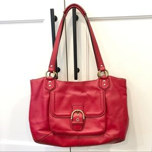 Coach Leather Campbell Belle Carryall Satchel